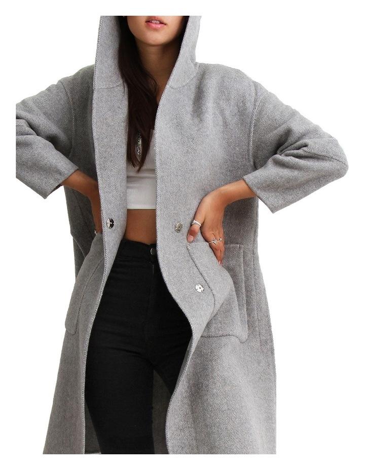 Walk This Way Grey Wool Blend Oversized Coat image 4