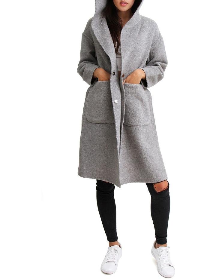 Walk This Way Grey Wool Blend Oversized Coat image 7