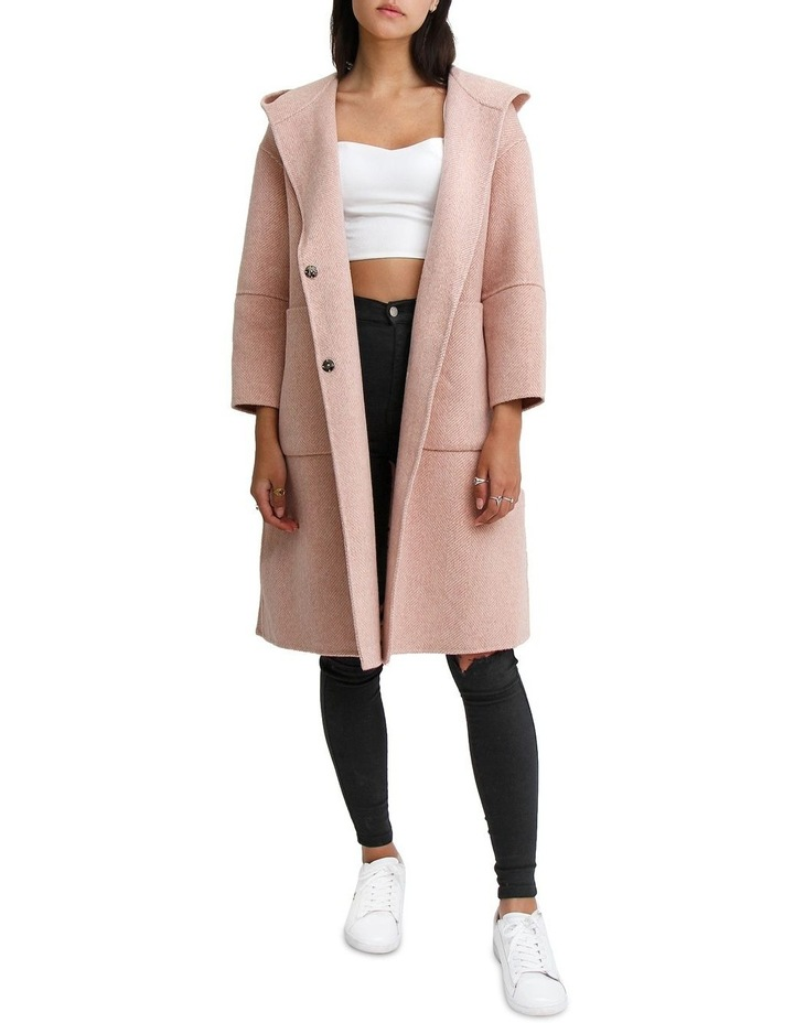Walk This Way Blush Wool Blend Oversized Coat image 1