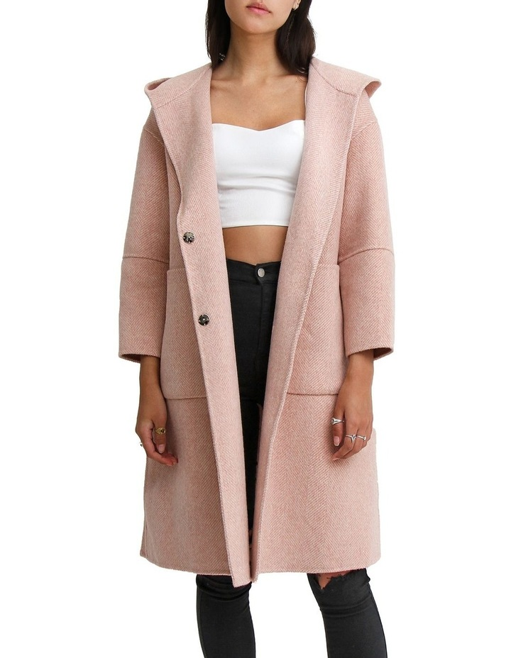 Walk This Way Blush Wool Blend Oversized Coat image 2
