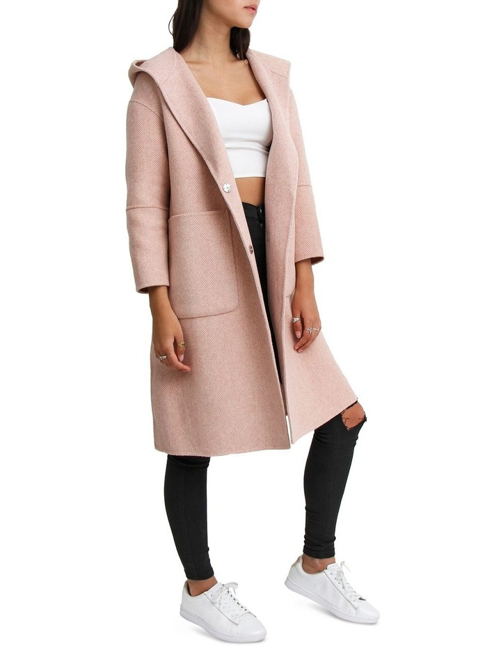 Walk This Way Blush Wool Blend Oversized Coat image 3