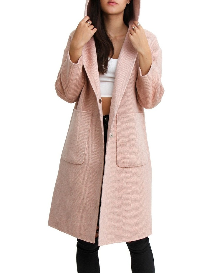Walk This Way Blush Wool Blend Oversized Coat image 6
