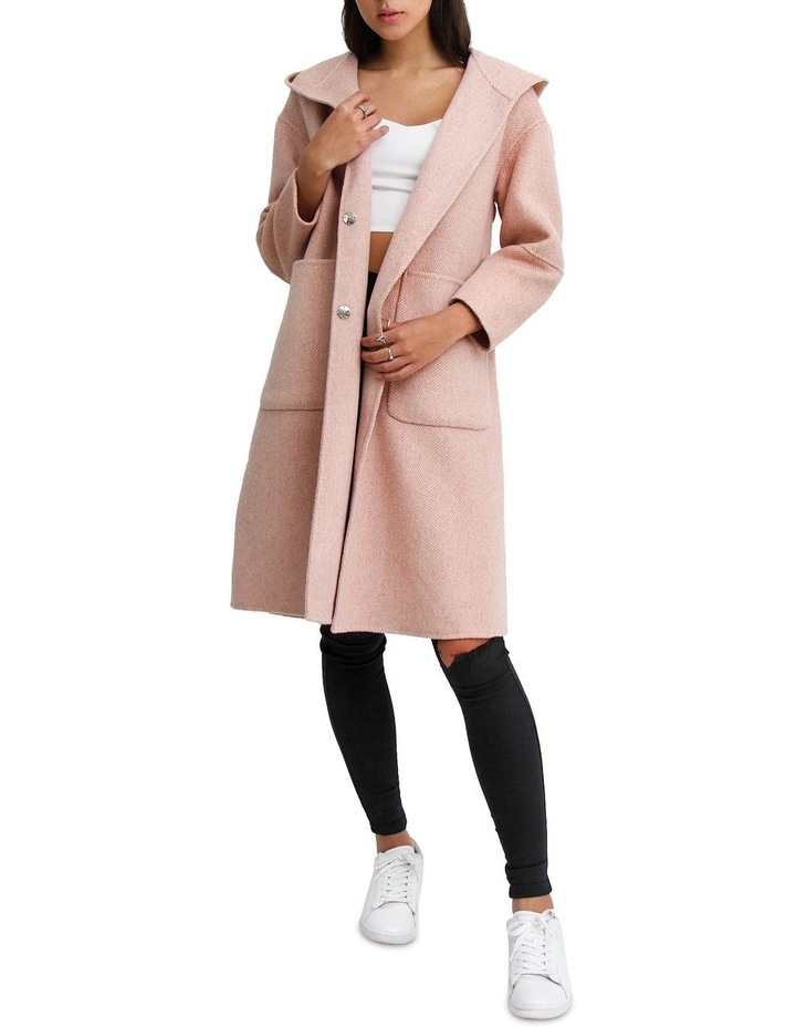 Walk This Way Blush Wool Blend Oversized Coat image 7