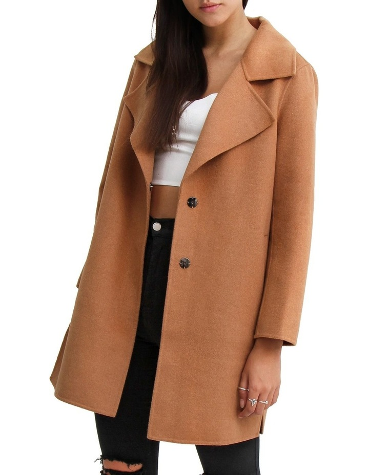Ex-Boyfriend Camel Wool Blend Oversized Jacket image 1
