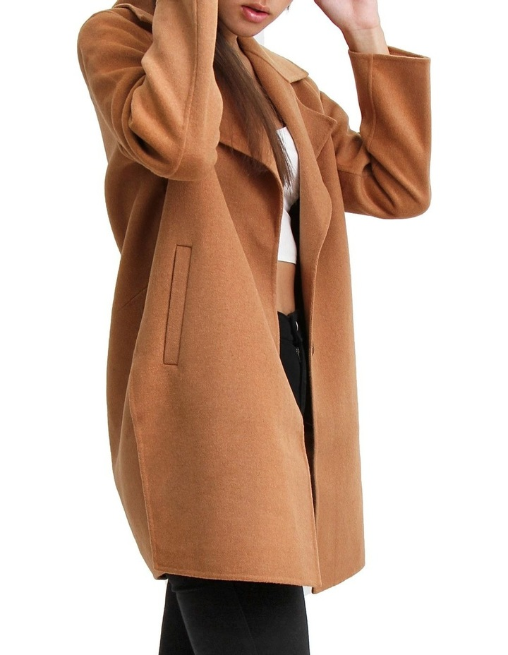 Ex-Boyfriend Camel Wool Blend Oversized Jacket image 2