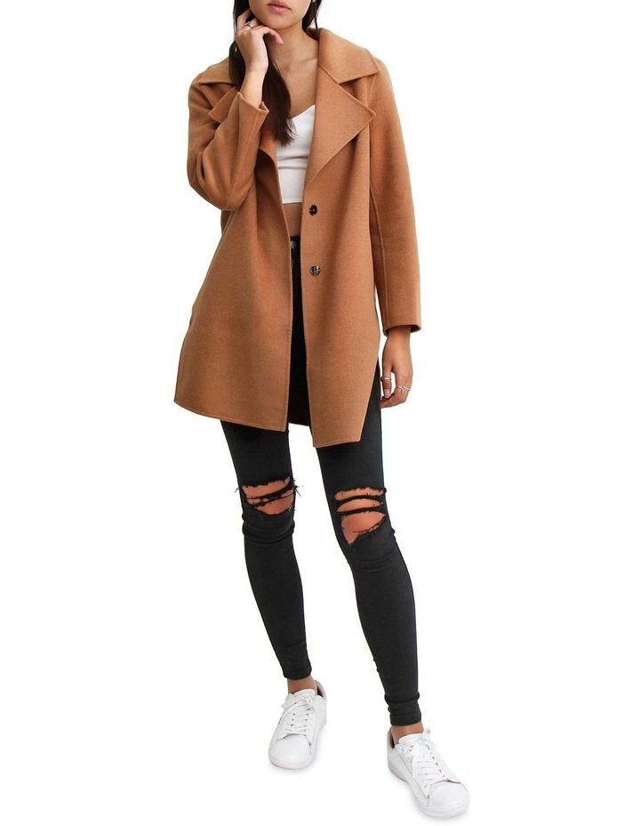 Ex-Boyfriend Camel Wool Blend Oversized Jacket image 4