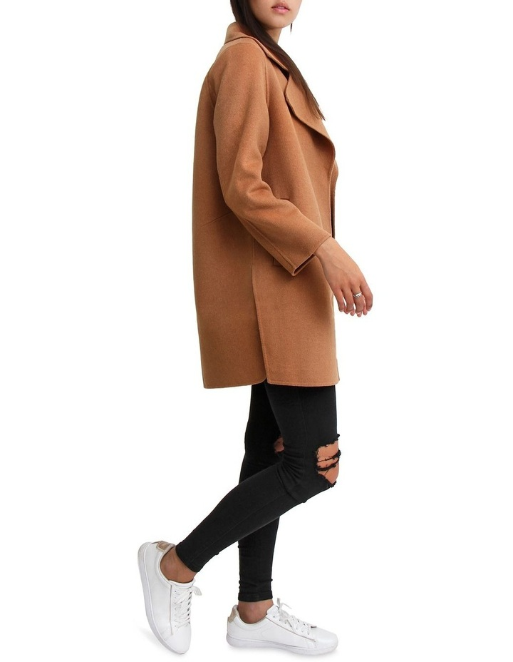 Ex-Boyfriend Camel Wool Blend Oversized Jacket image 5