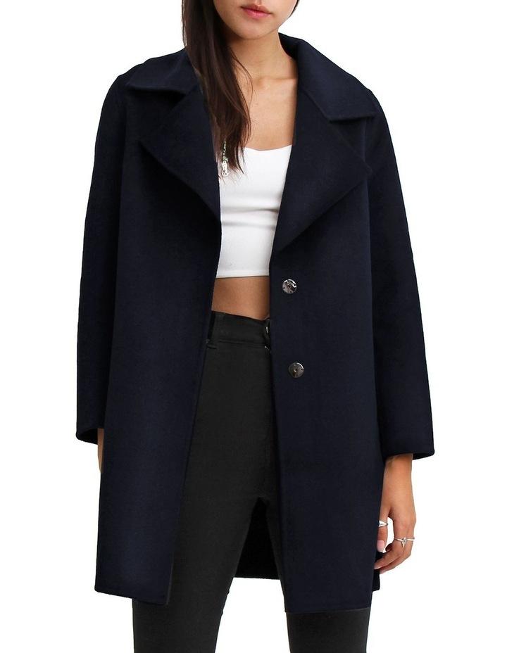 Ex-Boyfriend Navy Wool Blend Oversized Jacket image 1