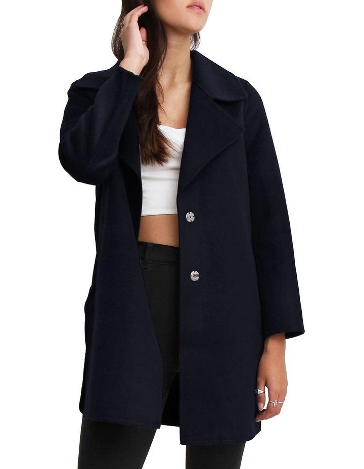 Ex-Boyfriend Navy Wool Blend Oversized Jacket image 3