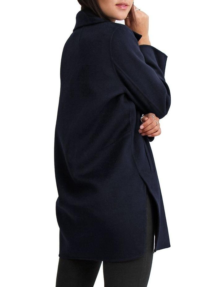 Ex-Boyfriend Navy Wool Blend Oversized Jacket image 4