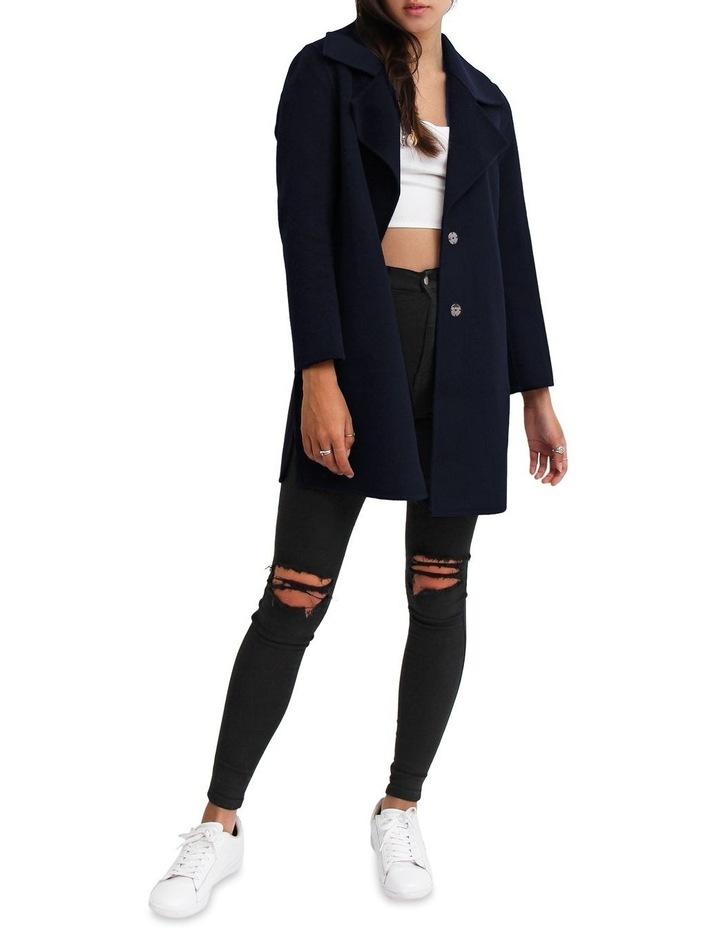 Ex-Boyfriend Navy Wool Blend Oversized Jacket image 5