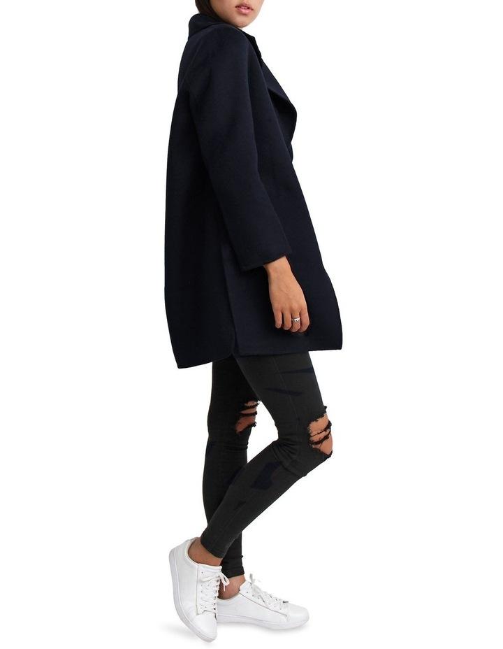 Ex-Boyfriend Navy Wool Blend Oversized Jacket image 6