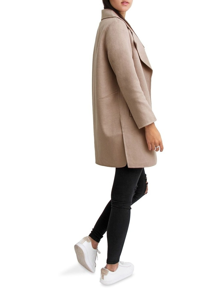 Ex- Boyfriend Sand Wool Blend Oversized Jacket image 4