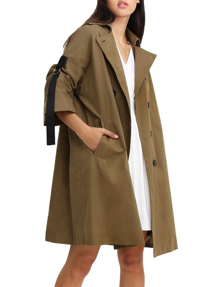 Russian Romance Military Oversized Trench Coat image 1