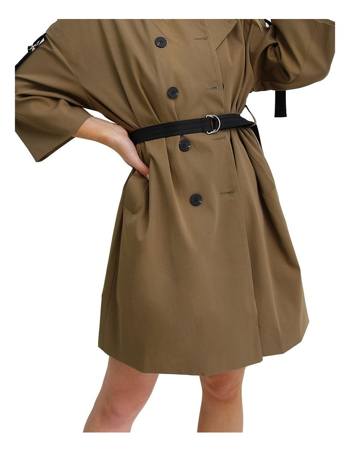Russian Romance Military Oversized Trench Coat image 4