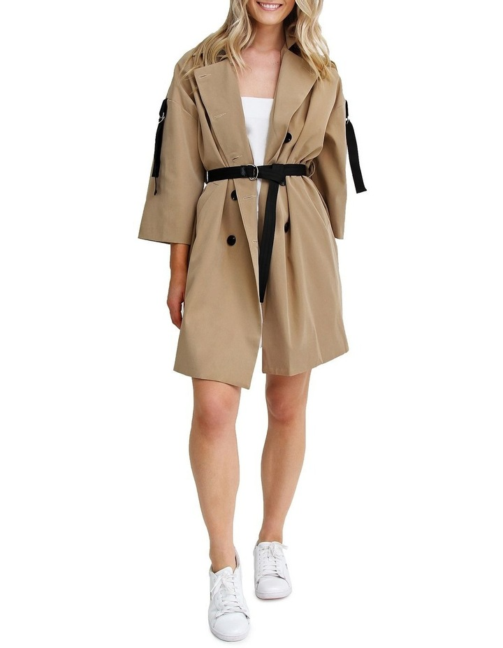 Russian Romance Camel Oversized Trench Coat image 1