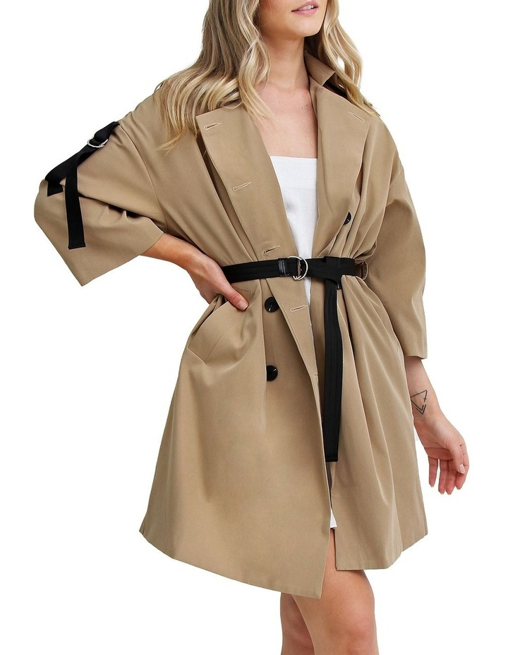Russian Romance Camel Oversized Trench Coat image 2