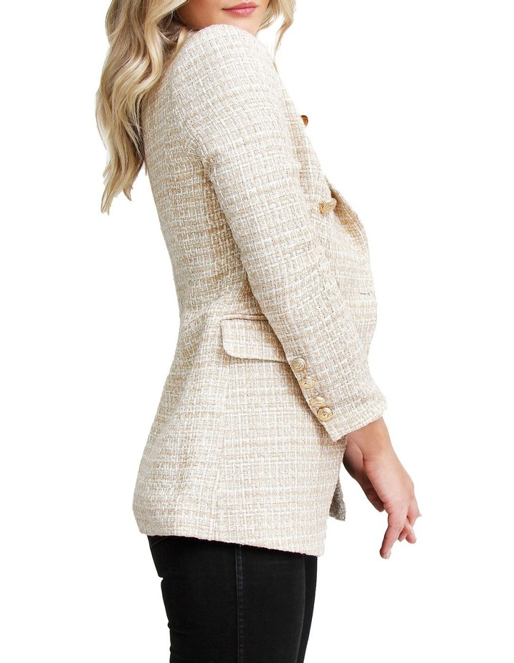 Princess Polly Beige Marle Tweed Blazer image 4