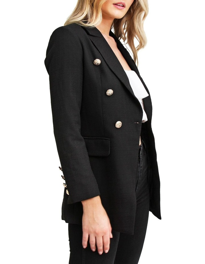 Princess Polly Black Tweed Blazer image 2