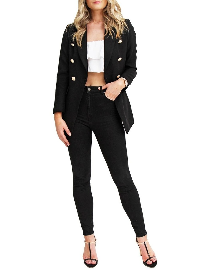 Princess Polly Black Tweed Blazer image 3