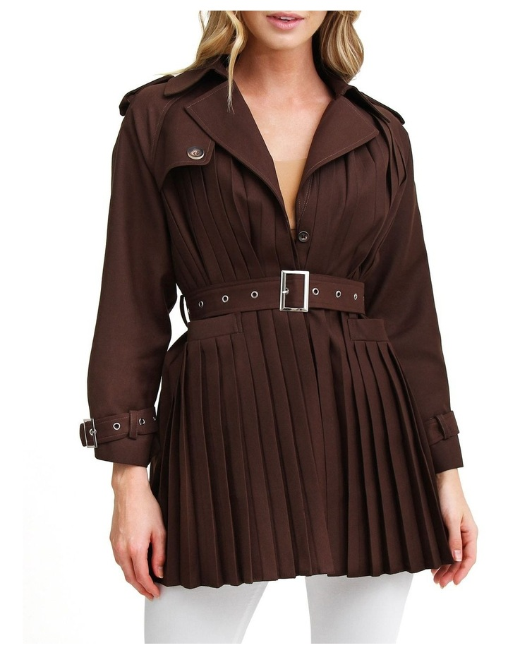 Wish You Were Mine Coffee Belted Jacket image 1