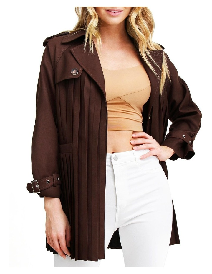 Wish You Were Mine Coffee Belted Jacket image 5