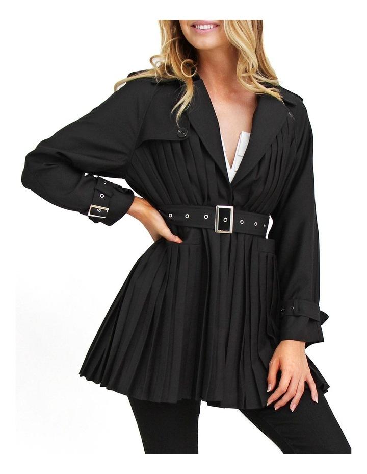Wish You Were Mine Black Belted Jacket image 1
