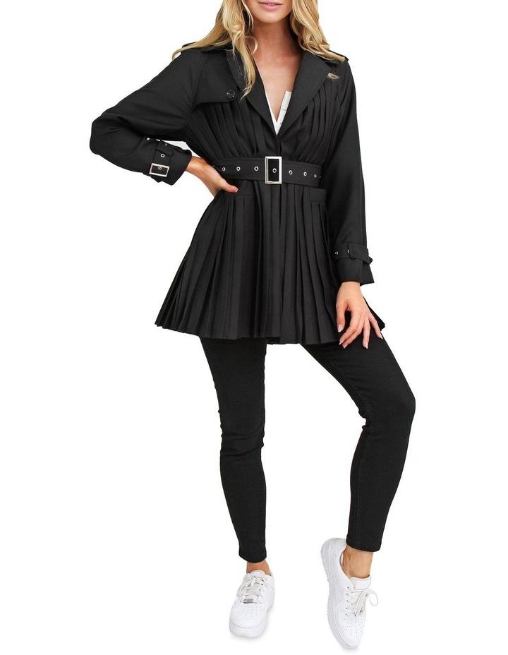 Wish You Were Mine Black Belted Jacket image 5