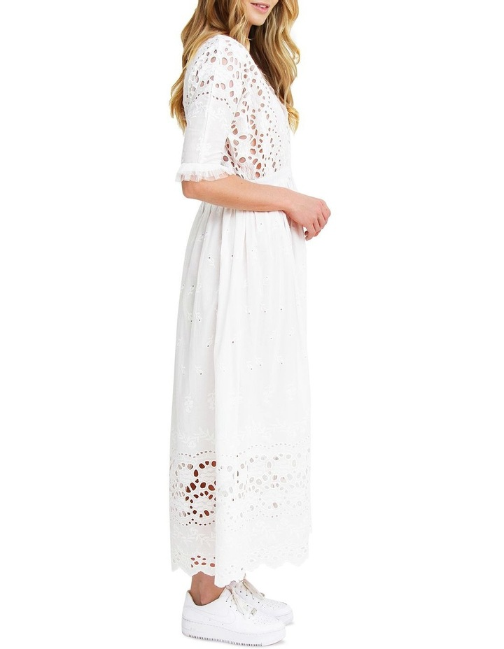 All Eyes On You White Midi Dress image 2