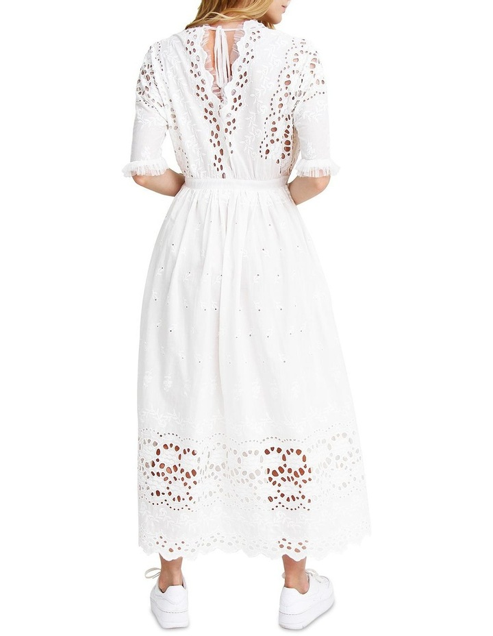 All Eyes On You White Midi Dress image 3