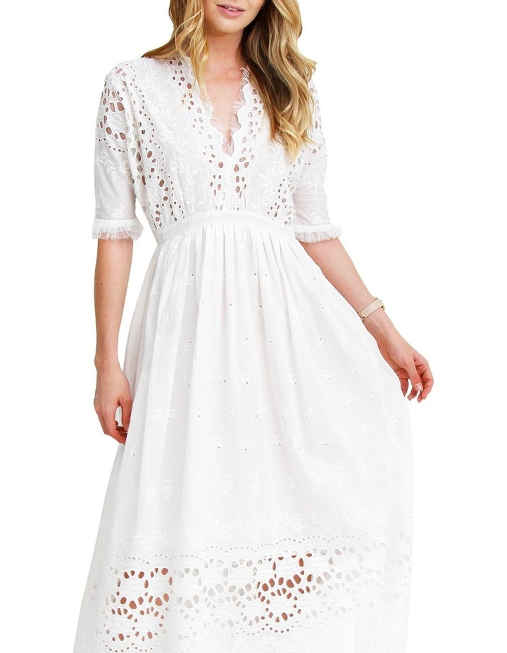 All Eyes On You White Midi Dress image 4