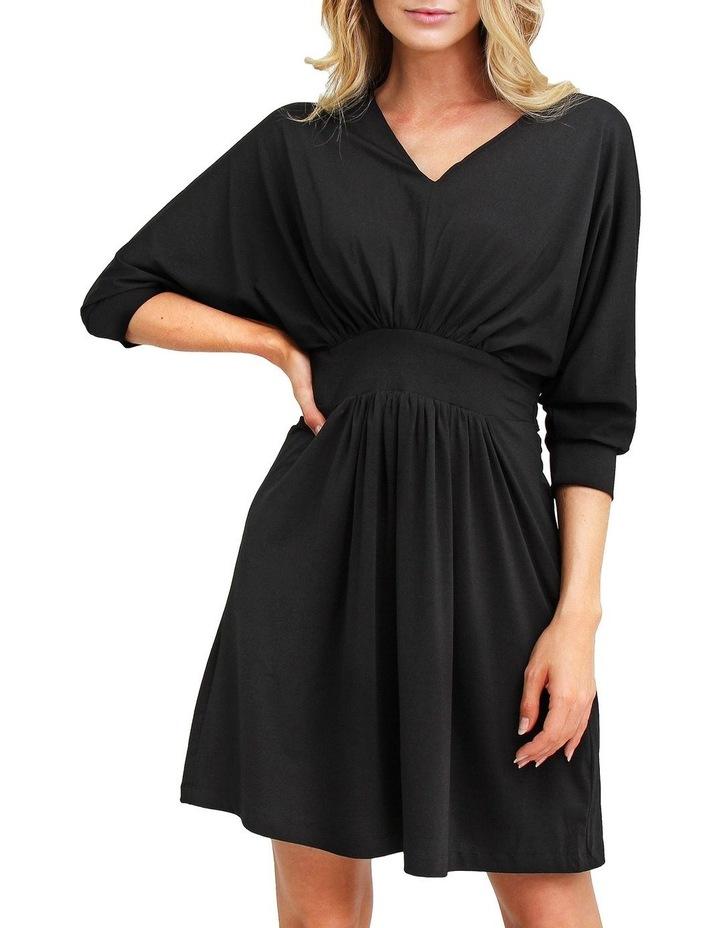 Morning Light Black Mini Dress image 1