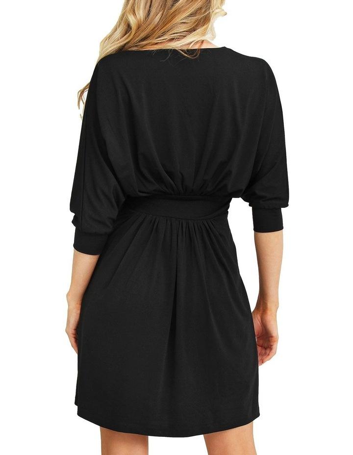 Morning Light Black Mini Dress image 3
