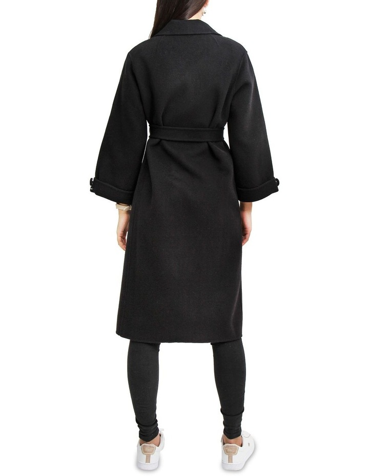 Stay Wild Black Wool Oversized Coat image 3