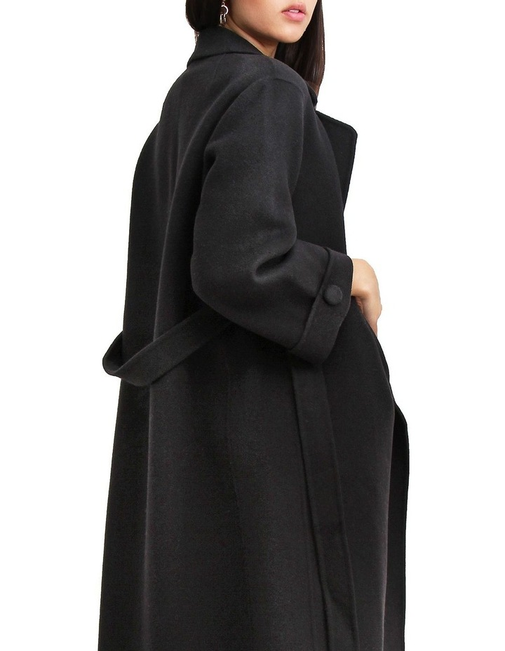 Stay Wild Black Wool Oversized Coat image 4