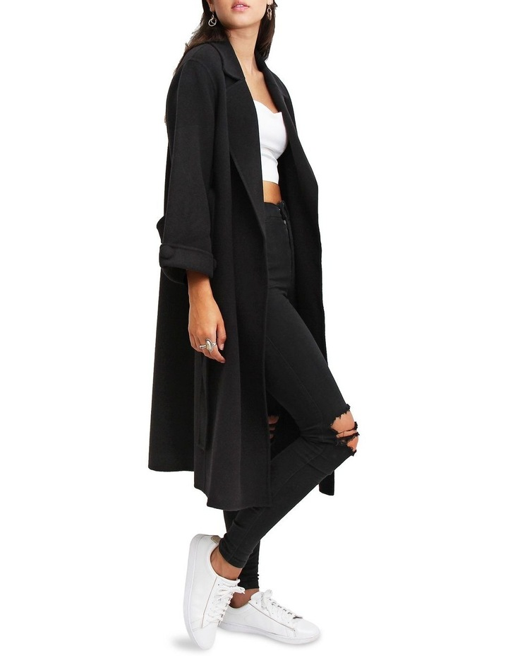 Stay Wild Black Wool Oversized Coat image 5