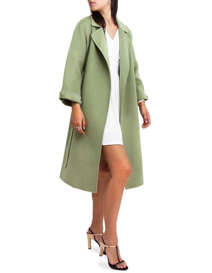 Stay Wild Grass Wool Oversized Coat image 4