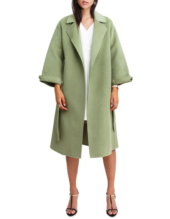 Stay Wild Grass Wool Oversized Coat image 5