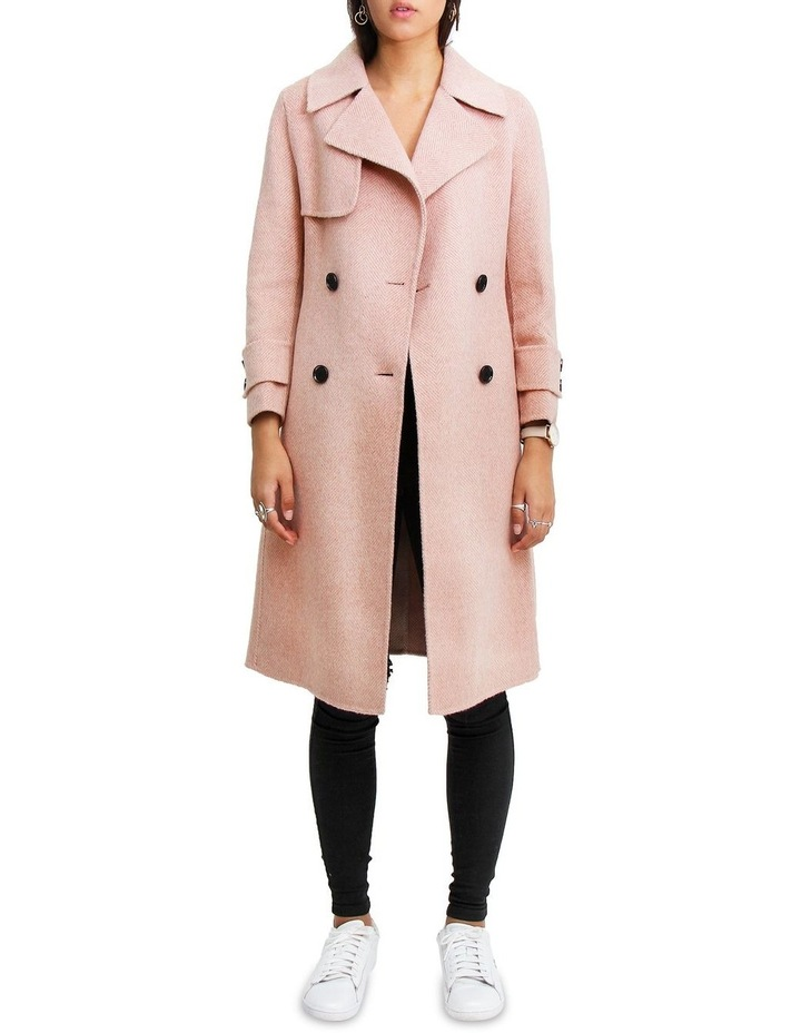 Endless Attention Rose Pink Wool Coat image 1