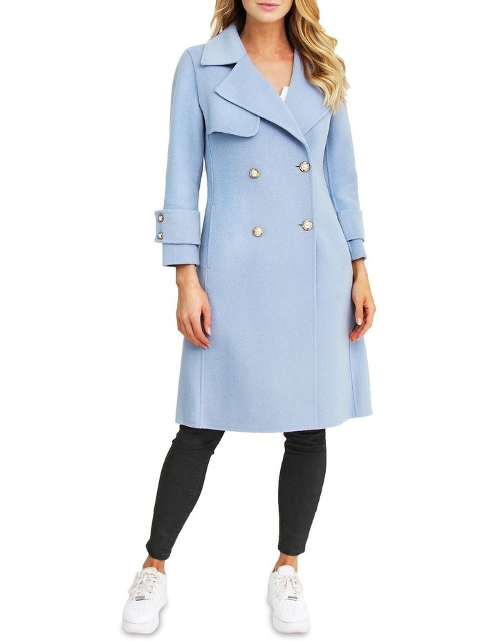 Endless Attention Sky Wool Coat image 1
