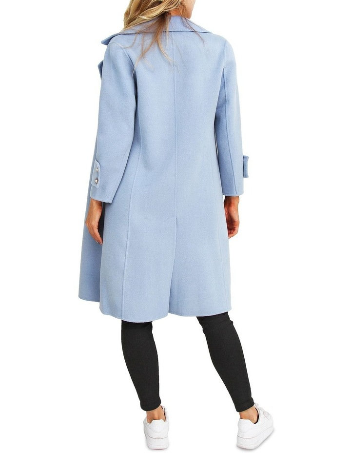 Endless Attention Sky Wool Coat image 3