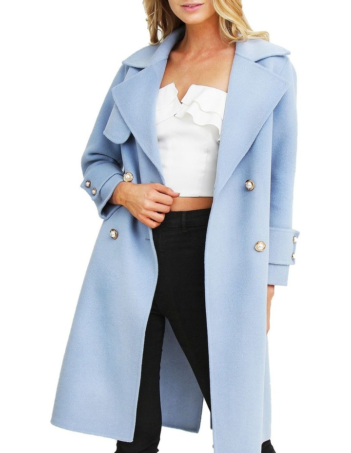 Endless Attention Sky Wool Coat image 4
