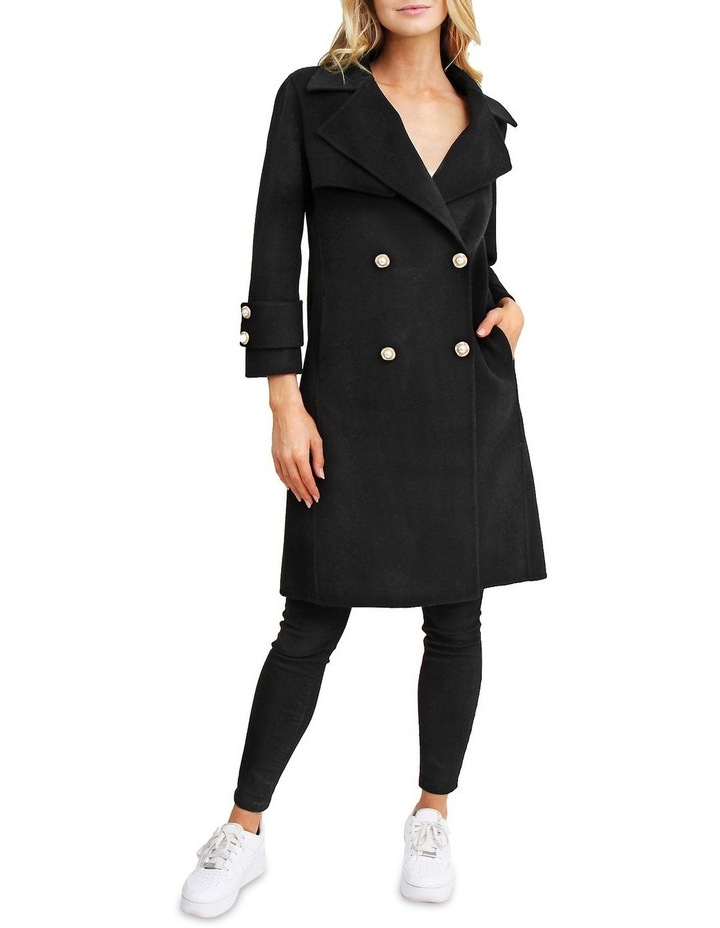 Endless Attention Black Wool Coat image 1