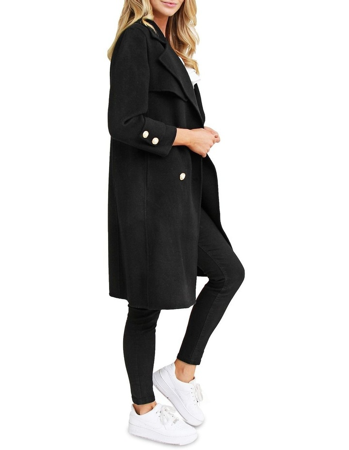 Endless Attention Black Wool Coat image 2