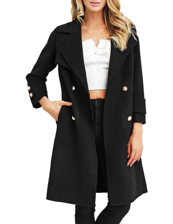 Endless Attention Black Wool Coat image 4