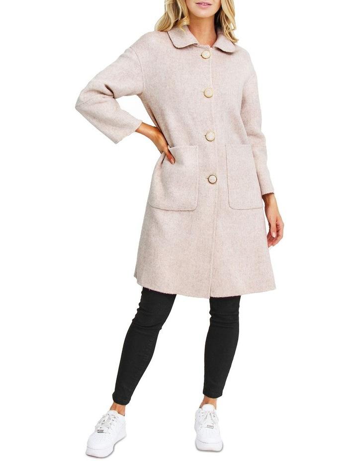 So Chic Beige Wool Blend Coat image 1