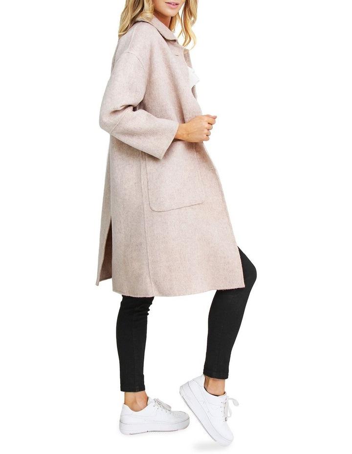 So Chic Beige Wool Blend Coat image 2