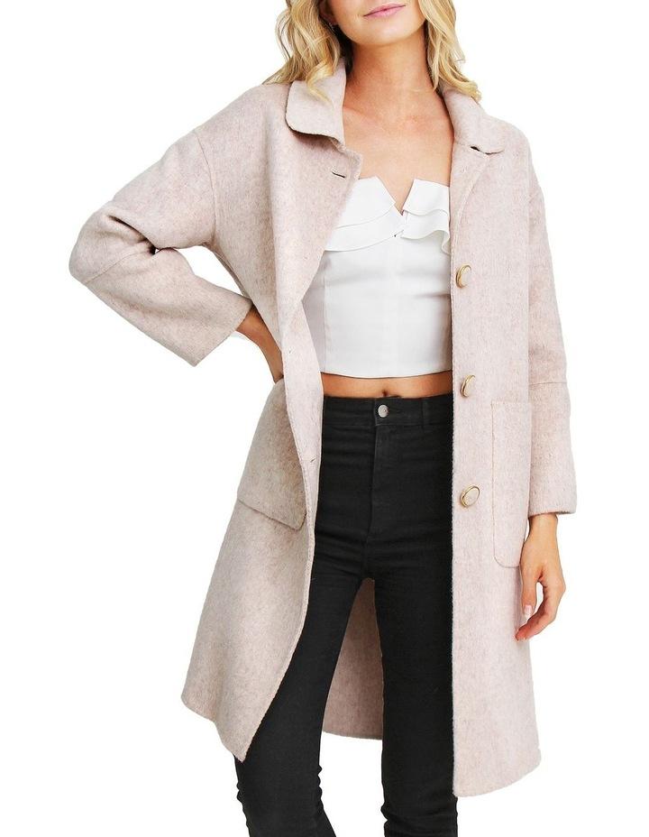 So Chic Beige Wool Blend Coat image 4