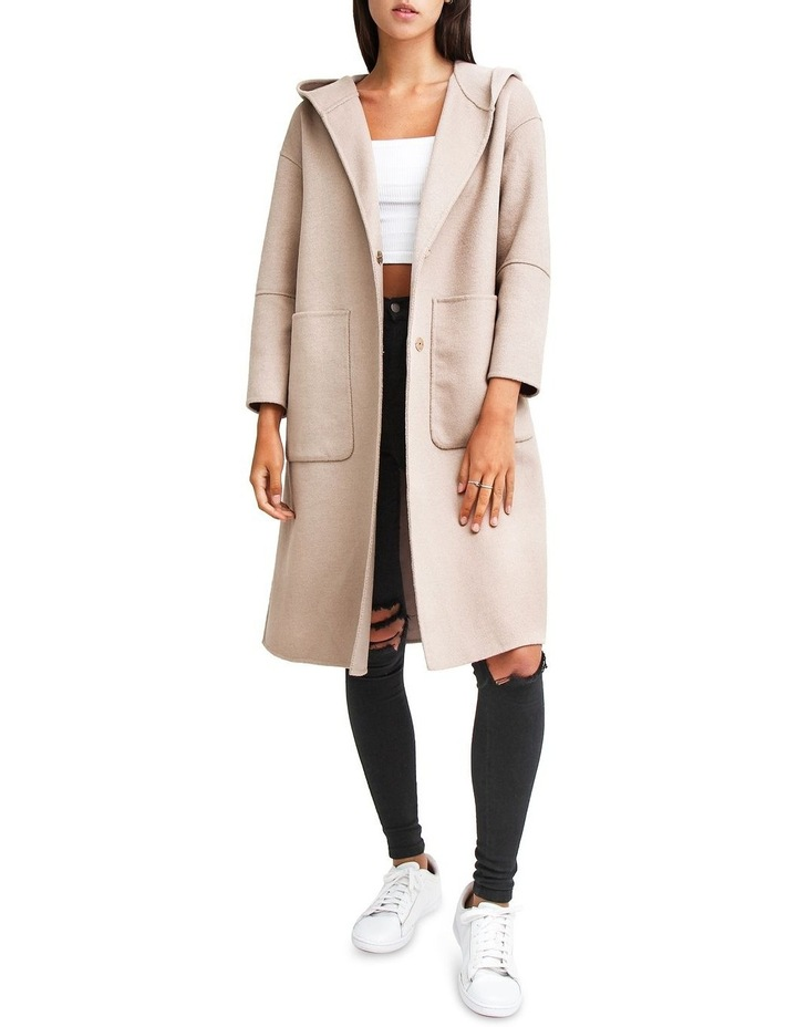 Walk This Way Sand Wool Blend Oversized Coat image 1