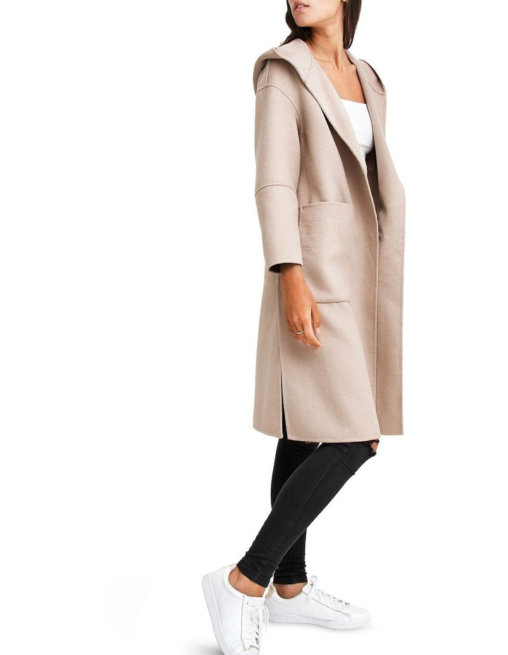 Walk This Way Sand Wool Blend Oversized Coat image 2